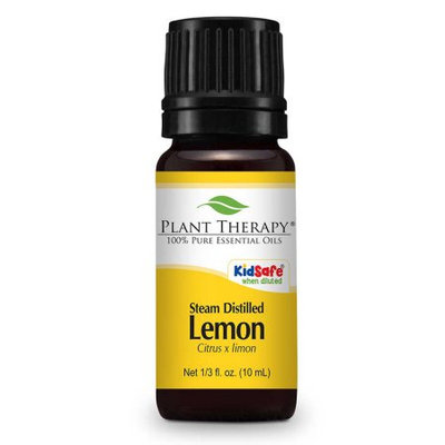 Plant Therapy Lemon Steam Distilled Essential Oil 10 mL (1/3 fl. oz.) 100% Pure, Undiluted, Therapeutic Grade
