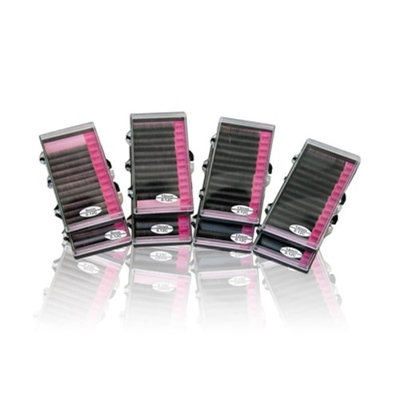 Single Eyelashes Kit | 8 Individual Mink Eyelash Trays 8mm,10mm,12mm,14mm| Hypoallergenic Lash Extension Glue and Remover | Miro Brush