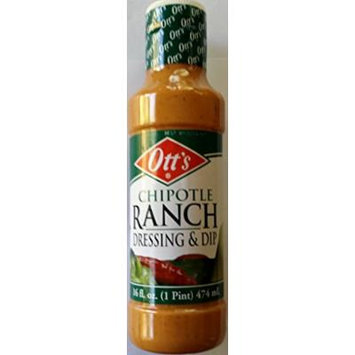 Ott's Chipotle Ranch Dressing 12 Oz (Pack of 3)
