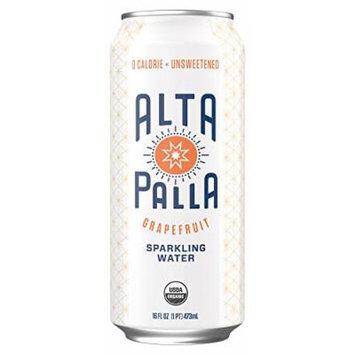 Alta Palla Organic Sparkling Water, Grapefruit, 16 fl oz, 12 Count
