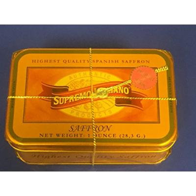 Imported Spanish Saffron Spice – Best Price on Amazon – 1 oz. (28.3 grams) Decorative Tin – Highest Quality Pure Saffron threads – La Mancha Spain