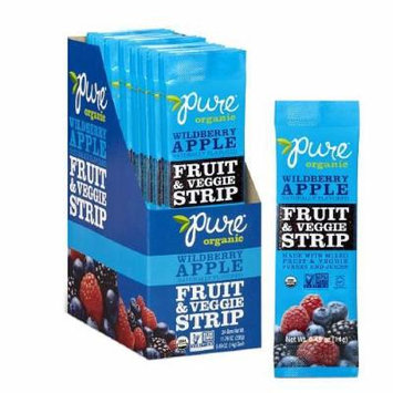 Pure Organic Pure Fruit and Veggie Strips, Wildberry Apple 0.49 oz (Pack of 1)