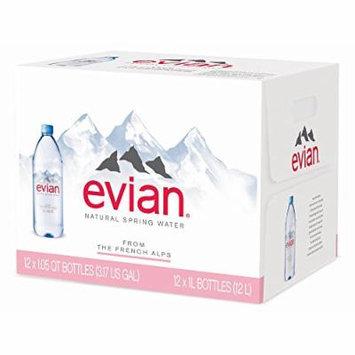 Evian Natural Spring Water, 12 pk./1L (pack of 2)