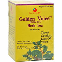 Health King Golden Voice Herb Tea, 20 Count by Health King