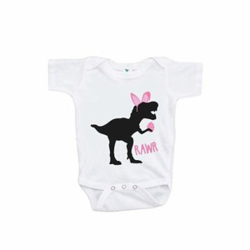 Custom Party Shop Baby Girls Dinosaur Happy Easter Onepiece - 12-18 Month Onepiece