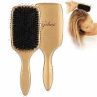Faux Bristle Hair Brush,Anti-Static Wooden Paddle Air Cushion Comb Helps Detangling and Massage Scalp,Maintain and Control Frizzy,Unmanageable Hair