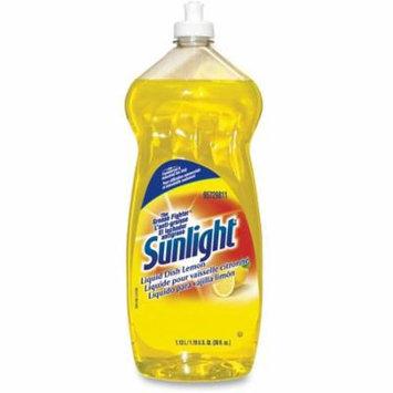 Sunlight DVO95729811CT 38 oz Liquid Dish Detergent Lemon Scent - Yellow