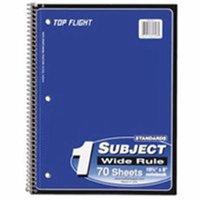 Top Flight 240366 Wirebound Notebook, 70 Count