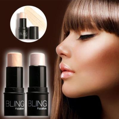 Highlighter Stick Shimmer Powder Cream Shadow Highlighting Waterproof Face Eyes Makeup Cosmetics Silver Gold WSY