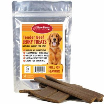 Eager Paws Premium Tender Beef Jerky Treats for Dogs, 5-ounce - Made in USA - Great Treats for Small Dogs, Puppies & Training