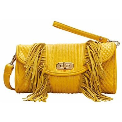 Mellow World Fashion Clutch Sicily, Mustard, One Size