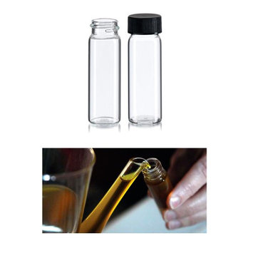 Atb 50 Mini Clear Glass Vial Bottles Cap 2 3/8 Tall 7 mL Gold Panning Prospecting