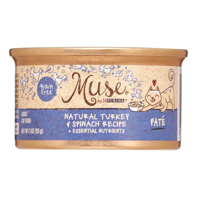 Muse by Purina Natural Turkey & Spinach Recipe Cat Food, 3 oz.