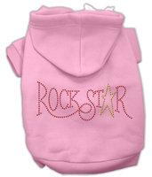 Mirage Pet Products 5473 SMPK Rock Star Rhinestone Hoodies Pink S 10
