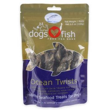 Dogs Love Fish Ocean Twists 3.5 Oz