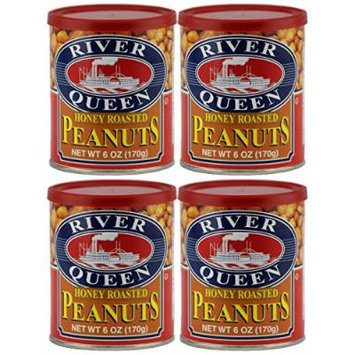 River Queen Honey Roasted Peanuts, 6 Ounce (Pack of 4)