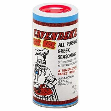 Cavender's All Purpose Greek Seasoning Salt Free 7.0 Oz(Pack of 6)