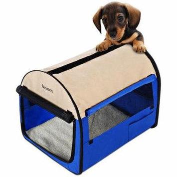 32'' Portable Folding Pet Dog Soft Carrier Cage Home Crate Case,Blue HFON