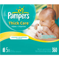 Pampers Thick Care Unscented Wipes