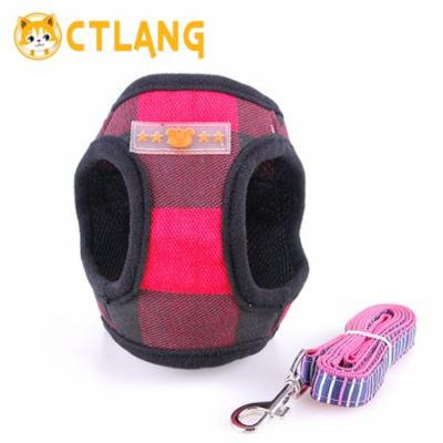 Pet Supplies Floral Breathable Pet Harness Chest Back Traction Rope Pet Belt