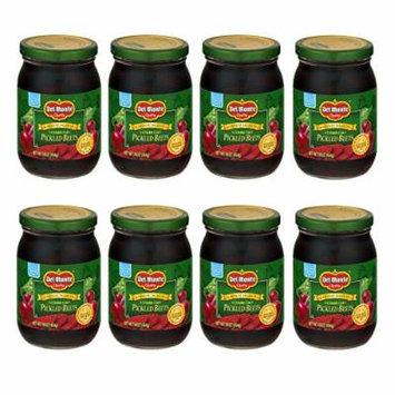 Del Monte Crinkle Cut Pickled Beets 16oz Glass Jar (Pack of 8)