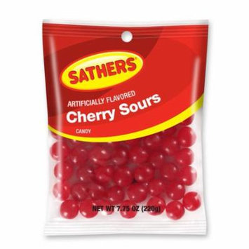 Sathers Cherry Sours Hard Candy, 7.75 Ounce Bag