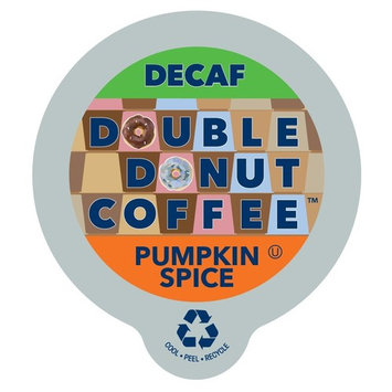 Double Donut Coffee Decaf Pumpkin Spice Flavored Coffee Single Serve Cups For Keurig K Cup Brewer