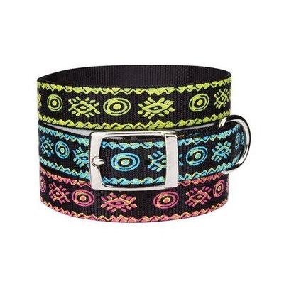 Casual Canine Nylon Artisan Print Dog Collar, 11-14-Inch, Bluebird