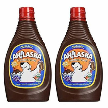 Ahlaska Organic Chocolate Syrup, 22 oz (Pack of 2)
