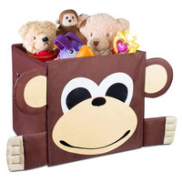 Handy Laundry Kids Foldable Cube Storage Bins - Monkey