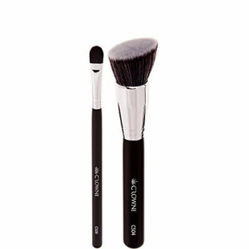 Crown PRO - Full Coverage Face Duo - Foundation and Concealer Brushes