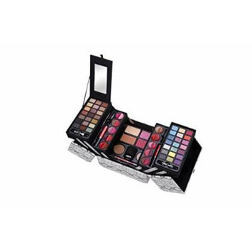 Cameo Snake Exclusive Makeup Gift Set B, 5 Layers of Eyeshadows, Lip-Glosses, Powders, Blushes, Creamy Foundation Brush and Mirror
