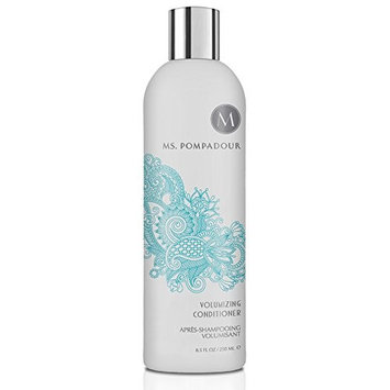 Ms. Pompadour Volumizing Hair Conditioner, soft and shine, keratin infused - Perfect for Fine to Normal Hair, 8.5 oz