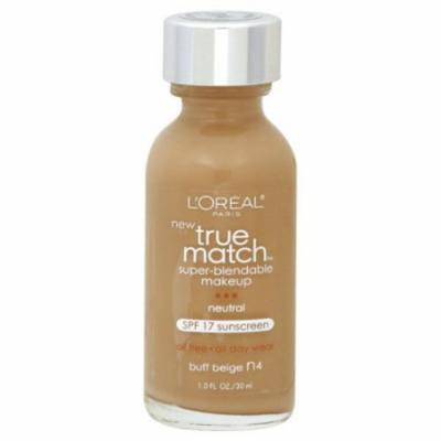L'Oreal Paris True Match Super-Blendable Liquid Makeup, Buff Beige (2-Pack)