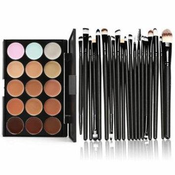 DZT1968® 15 Colors Contour Face Cream Makeup Concealer Palette Professional + 20 Brush