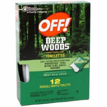 6 Pack - OFF! Deep Woods Towelettes 12 Each
