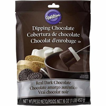 Wilton 1911-9435 Microwaveable Real Dark Chocolate Melting Chocolate, 1 lb.