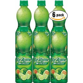 ReaLime 100% Lime Juice, 15oz Bottle (Pack of 6, Total of 90 Oz)