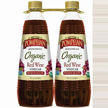 Pompeian Organic Red Wine Vinegar, 2 ct./32 oz. (pack of 2)