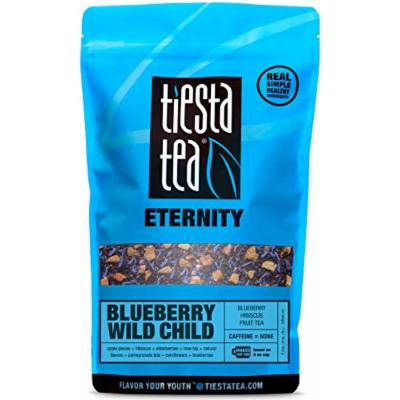 Blueberry Hibiscus Fruit Tea , Blueberry Wild Child by Tiesta Tea , Caffeine Free , Loose Leaf Herbal Tea Eternity Blend , Non-GMO , 1 Lb Bulk Bag