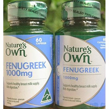 Nature's Own Fenugreek 1000mg 60 Capsules Origin of Australia