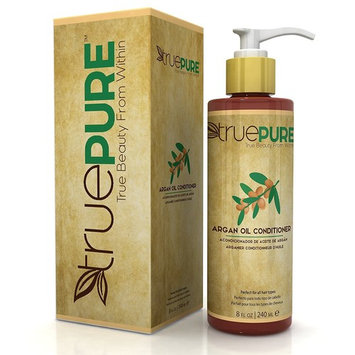 TruePure Argan Oil Conditioner With ArganPure Complex - Natural, Unscented, Plant Based Hair Loss Prevention Formula Without Sulfates or Parabens For Healthy Hair Growth - 8oz