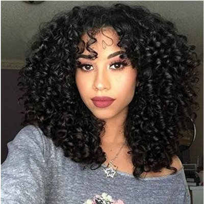 Wicca Afro Wigs for Black Women 180% Black Afro Curly Lace Front Wig with Baby Hair Bleached Knots Afro Kinky Curly Full Lace Wig