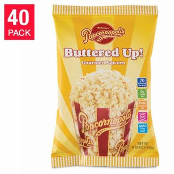 Popcornopolis Buttered-Up Popcorn 0.55 Oz, 40-Pack