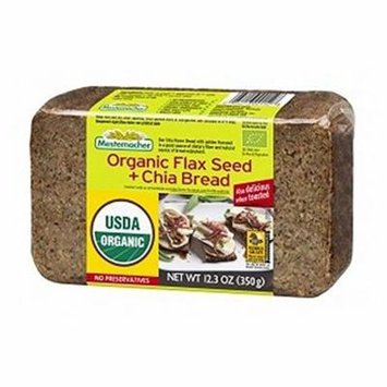 Mestemacher Bread Bread, Organic, Flax Seed Chia - (Case of 9 - 12.3 oz)