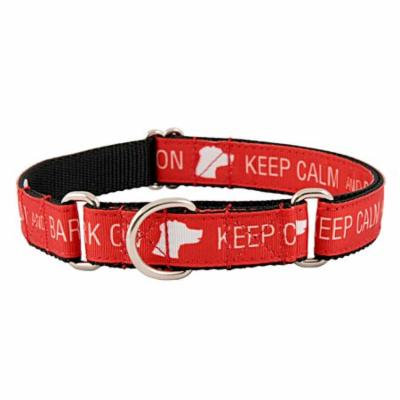 Country Brook Design® Keep Calm and Bark On Ribbon Martingale Dog Collar Limited Edition