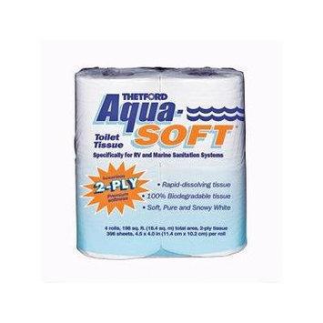 03300 Aqua-Soft Toilet Tissue 2-Ply / 4-Pack Quantity 10, 10 4-Packs of Thetford 03300 Aqua-Soft Toilet Tissue (Total of 40 Rolls) By Thetford