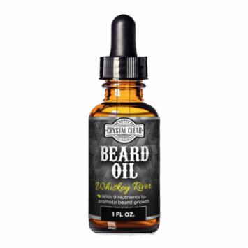 CCS Beard Oil Growth for Men, Leave-In Conditioner Softener for Dry and Sensitive Facial Hair, Whiskey River Scented 1 fl. oz