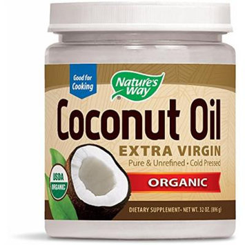 Nature's Way Organic Extra Virgin Coconut Oil, 32 Ounce (Pack of 4)