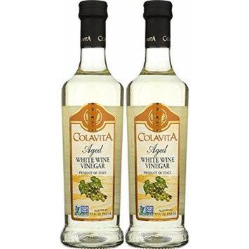 Colavita Aged White Wine Vinegar - Two Bottles, 2 x 17 fl.oz.